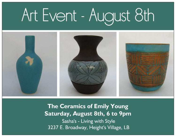 Local Interior Design Boutique to Host Artist Reception for Ceramist